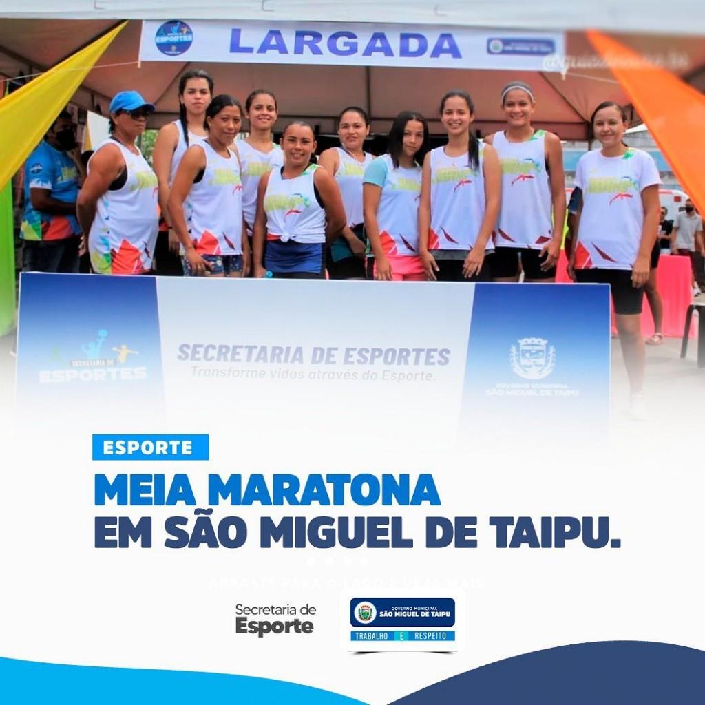 Meia Maratona em São Miguel de Taipu
