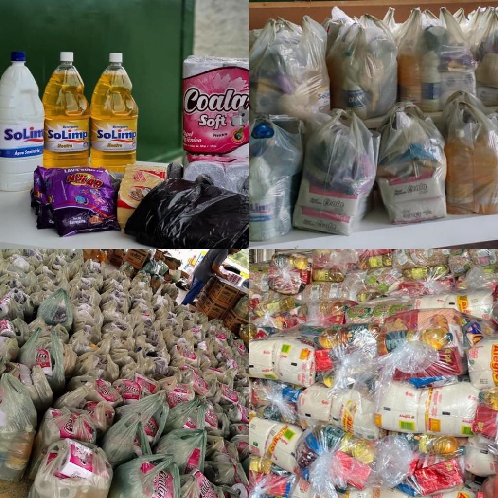 Prefeitura de São Miguel de Taipu doa cestas básicas e kits de higienização para famílias de alunos da rede municipal.