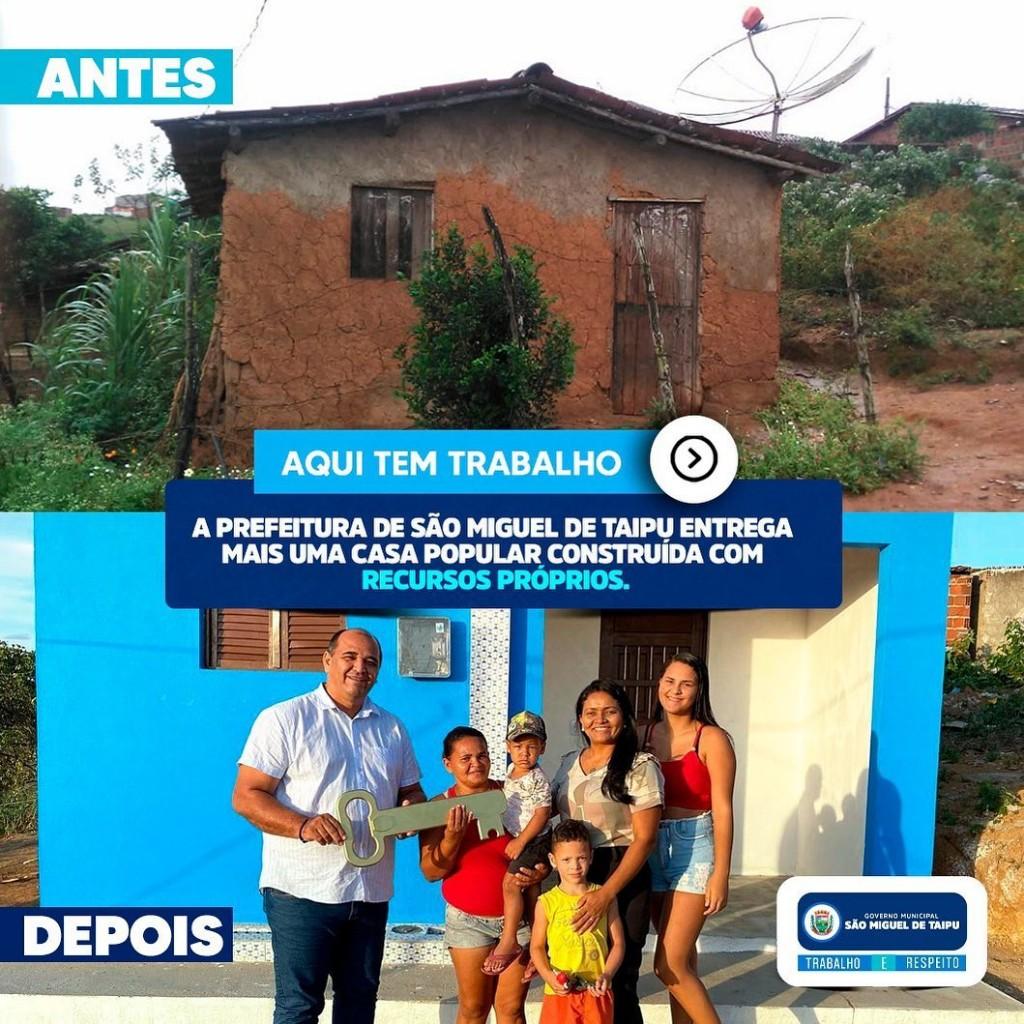 Entrega de mais uma casa popular na zona urbana do município